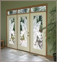 Tropical Oasis Etched Glass Window Film