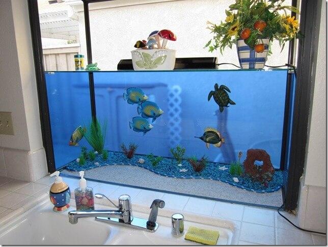 Garden Window Transformed Into An Aquarium.