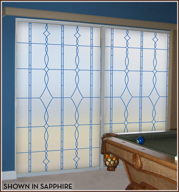 Allure Leaded Glass Privacy Film Wallpaper For Windows