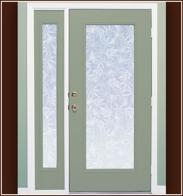 Pot Leaf Etched Glass Window Film Privacy Wallpaper For Windows