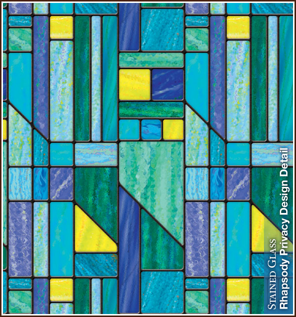 Rhapsody Stained Glass Privacy Film Wallpaper For Windows