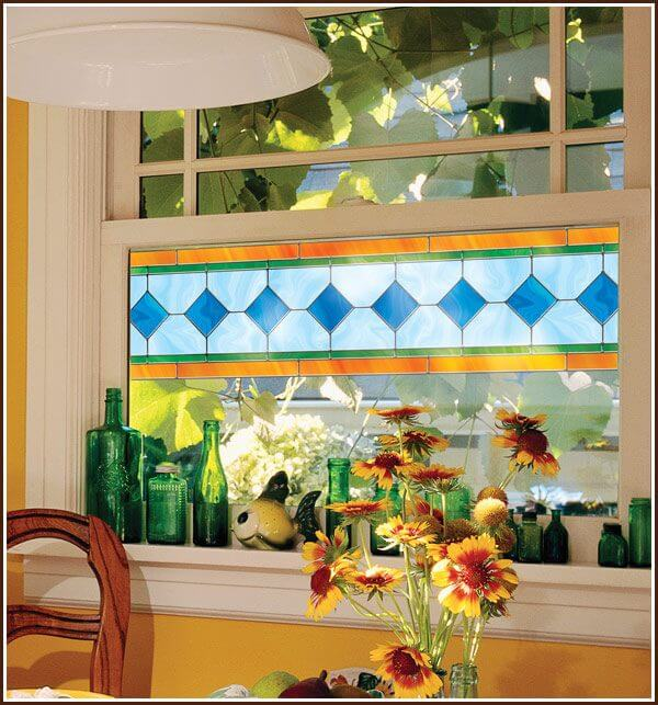 Stained Glass border on window