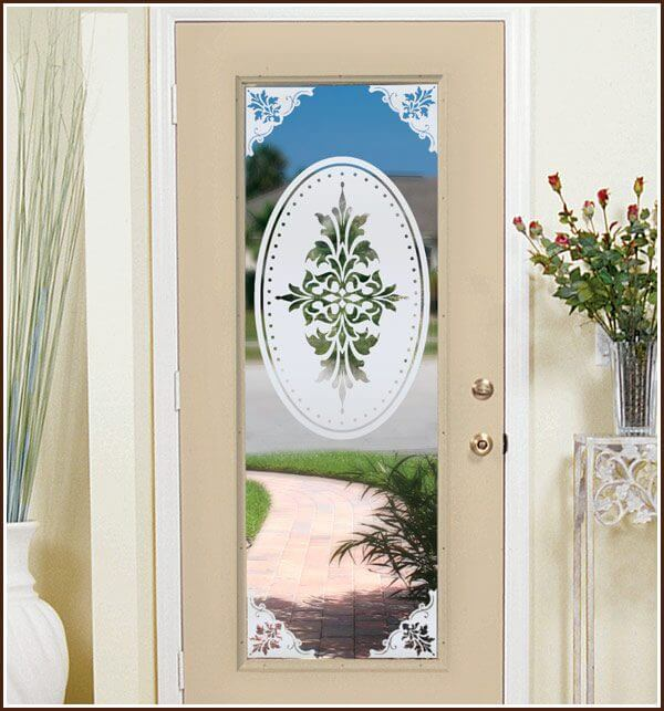 French door with Doral Oval and Doral Corners
