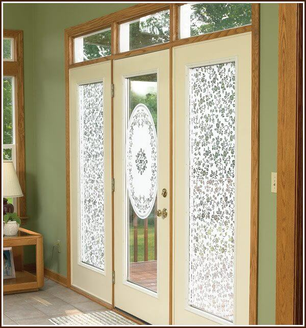 Eden Oval on glass door with Eden Semi-Private film