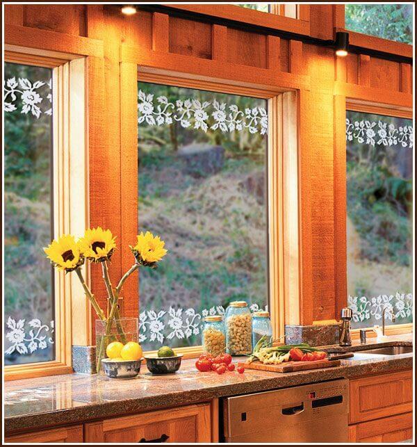 Kitchen windows showling Eden Borders