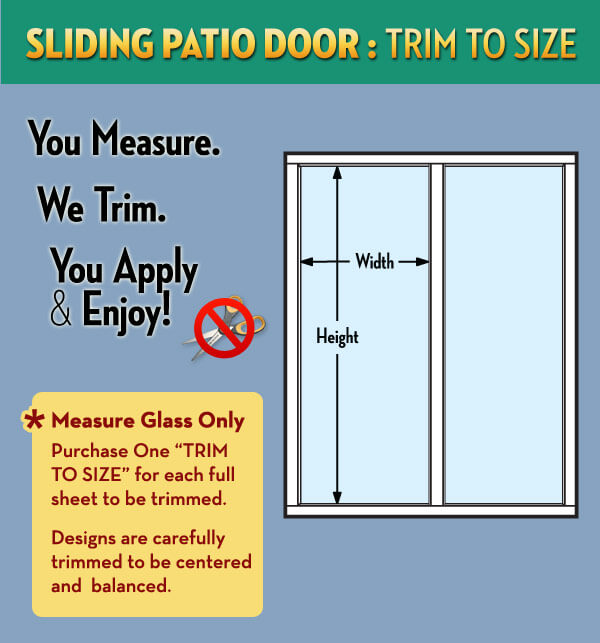 Sliding Patio Door Trim To Size Service, What Size Do Sliding Patio Doors Come In