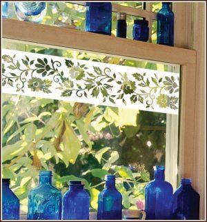 Naples border on kitchen window