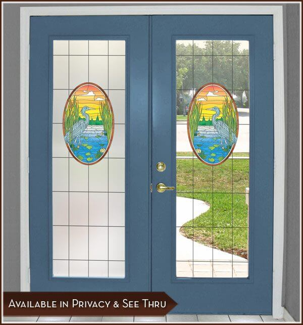 French doors with Lost Lake Privacy and See-Through