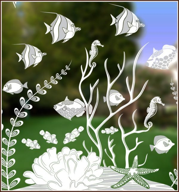Ocean reef with sea life