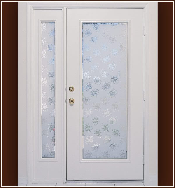 Aspen Semi-Private design on French door and sidelight